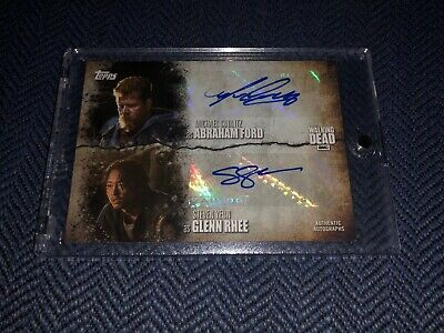 Topps The Walking Dead Season 7 Dual Auto /10 Steven Yeun Michael Cudlitz Glenn