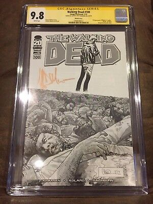 Walking Dead #100 Cgc 9.8 Signed Jeffrey Dean Morgan 1:200 Sketch Variant Negan