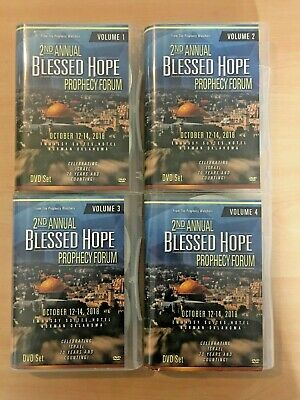 B3 2nd Annual Blessed Hope Prophecy Forum Israel 2018 4-part Dvd Set 34 Discs!!