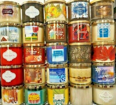Bath & Body Works White Barn 3 Wick Candle Choose Your Scent! Buy More Save More