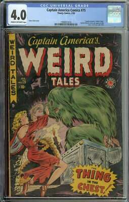 Captain America Comics #75 Last Issue Until 1954 Horror Cover Weird Tales