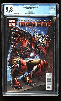 Invincible Iron Man 512 Cgc 9.8 1:50 Stroman Venom Variant Marvel