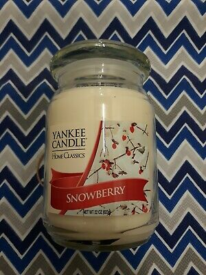 Snowberry,22oz.,yankee Candle,home Classics,rare And Hard To Find.