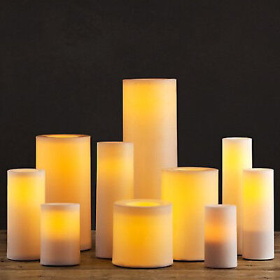 Restoration Hardware Flameless Candle With Timer / Extra-wide Candles / 4 Sizes!