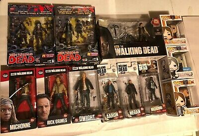 Lot Of 14 The Walking Dead Action Figures *funko, Color Tops, Daryl W/ Chopper+*