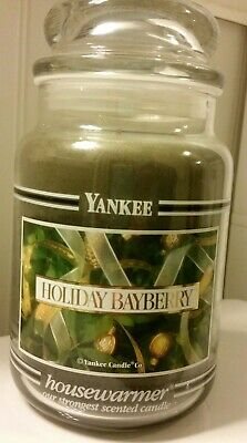 Yankee Candle 22oz Black Band Holiday Bayberry Christmas Rare Hard To Find!