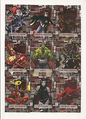 Marvel Beginnings Series 3 Prime Micromotion  Complete Insert Set ( 60 Cards)