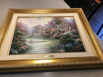 Rare Thomas Kinkade - Hand Sketch, Signed On Back - Spring Gate 18x24 Limited Pp