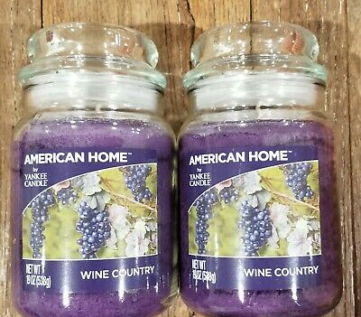Two (2) Wine Country - American Home By Yankee Candle 19oz Jar - Brand New