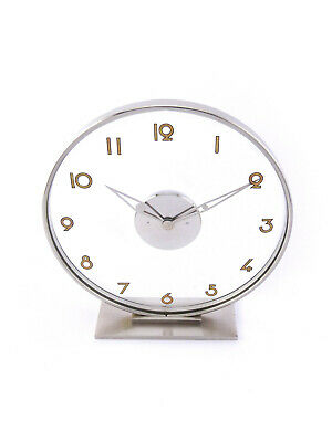 Very Nice Desk Clock From Jaeger Lecoultre In A Chrome Plated Brass Caset 50