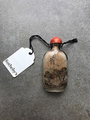 An Antique Chinese Signed Inside Painted Snuff Bottle Ex Sotheby