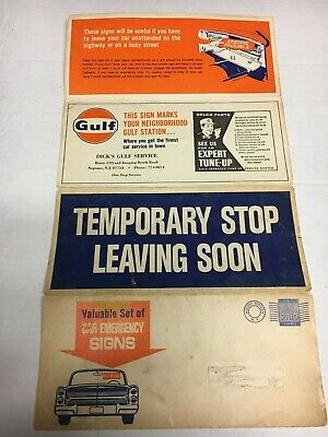 Vintage Advertisement Car Emergency Fold Up Signs Dick