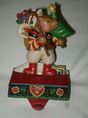 Rare Midwest Cannon Falls Mary Engelbreit A Very Beary Christmas Stocking Hanger