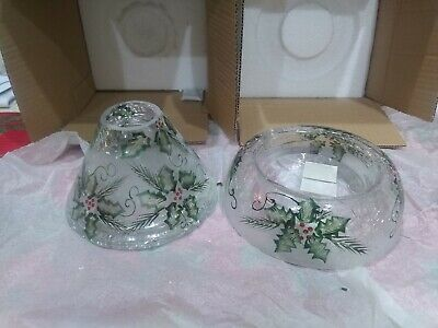 Yankee Candle Limited Edition Raised Holly Base W/ Holly Topper
