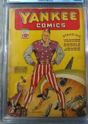 Yankee Comics #1 Extremely Hard To Find 1st App Art Deco Chesler Wwii Cvr Rare