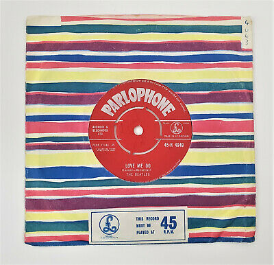 The Beatles Love Me Do / P.s. I Love You Parlophone 4949 Red Label 1962 1st Line