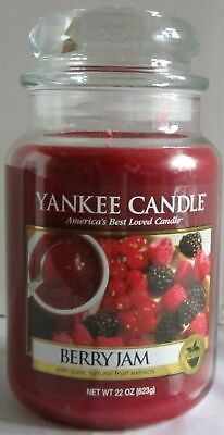 Yankee Candle Large Jar Candle 110-150 Hrs 22 Oz Berry Jam Red Fruit