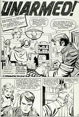 Jack Kirby Original Art, Splash Page From Kid Colt Outlaw # 119, Marvel, 1962