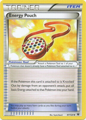 1x - Energy Pouch - 97/124 - Uncommon NM, English Pokemon XY Fates Collide