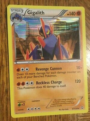 Pokemon Rare Foil Gigalith Dragons Exalted #67/124 Near Mint