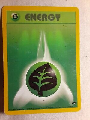 Pokemon Card Grass Energy 129/132 Gym Heroes Common USED