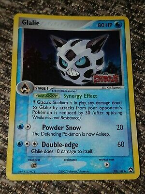 Glalie Reverse Holo, 30/108, Rare Pokemon Card EX Power Keepers LP.