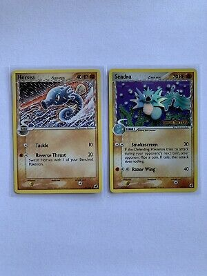 2006 SEADRA 22/101 +HORSEA 31/101 DRAGON FRONTIERS Pokemon-REV HOLO-STAMPED NM/M
