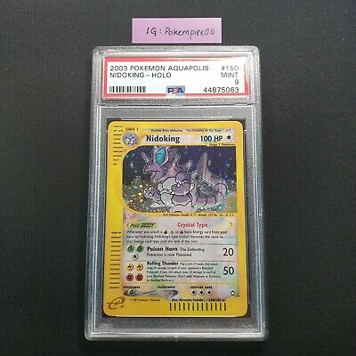 Pokemon Card WOTC 2003 Aquapolis E-Series Crystal Nidoking Holo 150/147 PSA 9