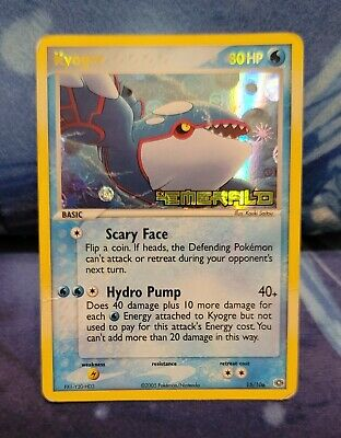 Pokemon Kyogre Emerald Holo Stamped 15/106 MP/P
