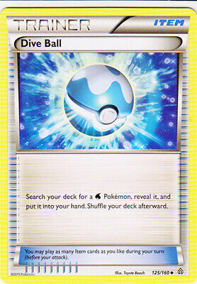 1x - Dive Ball - 125/160 - Uncommon PL/MP, English Pokemon Primal Clash