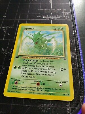 1st Edition Scyther 46/75 - Neo Discovery Uncommon Pokemon Card WOTC