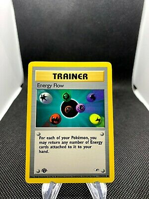 Energy Flow 122/132 Gym Heroes 1st Edition Trainer Non-Holo Pokemon Card TCG