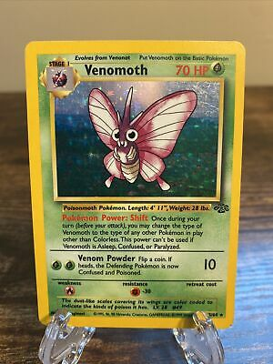 Venomoth 13/64 - Holo Rare - WOTC Pokemon Card - 1999 Jungle Set