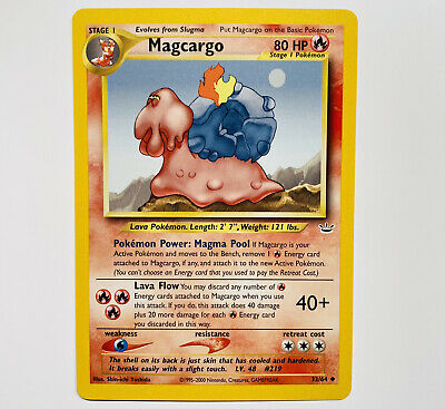 Pokemon Neo Revelation - Magcargo 33/64 - Uncommon- NM/M+ w/ tracking