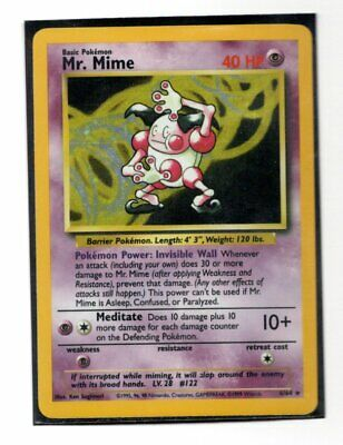 Pokemon Mr. Mime Jungle 6/64 Misprint Missing Set Symbol Holo Rare NM