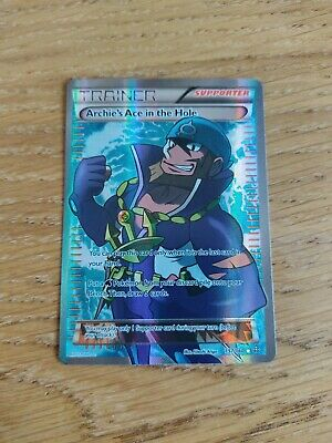 Archie's Ace In The Hole - Full Art Holo - 157/160 - Primal Clash - Pokemon