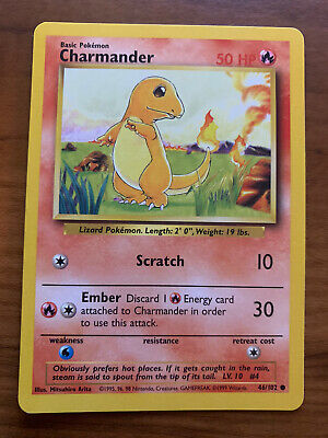 CHARMANDER - Base Set - 46/102 - Common - Pokemon Card - Unlimited Edition NM