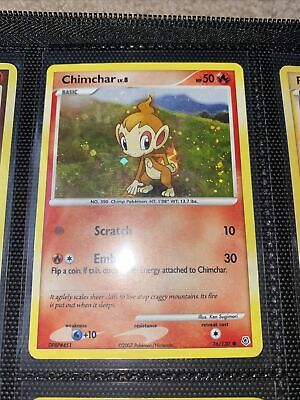 2007 Pokemon Diamond And Pearl Expansion Cosmos Set Chimchar Holo Card, 76/130