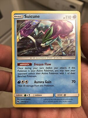 Suicune 59/214 NM/M MINT Lost Thunder Prism Star Holofoil Rare Holo Pokemon Card