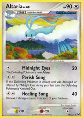 1x - Altaria - 18/127 - Rare - Reverse Holo PL/MP, English Pokemon Platinum
