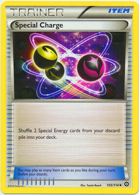 1x - Special Charge - 105/114 - Uncommon LP, English Pokemon XY Steam Siege