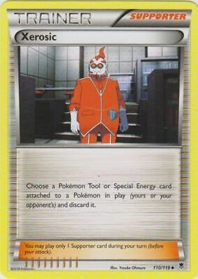 1x - Xerosic - 110/119 - Uncommon LP, English Pokemon Phantom Forces