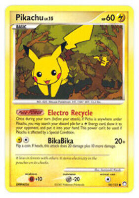 1x - Pikachu - 94/123 - Common LP, English Pokemon Mysterious Treasures