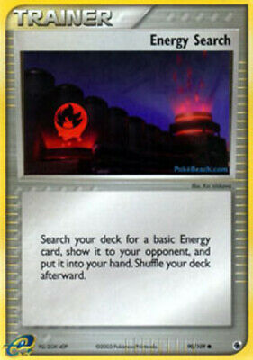 1x - Energy Search - 90/109 - Common NM, English Pokemon EX Ruby and Sapphire