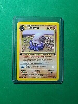 NM/Mint 1st Edition Omanyte 60/75 Neo Discovery Pokemon Card WOTC