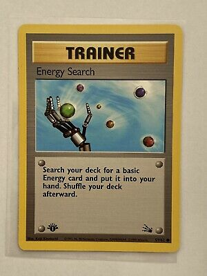 Pokemon Card Energy Search 59/62 1st Edition Fossil
