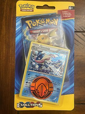 Pokemon XY Evolutions Checklane Blister Pack w/Greninja Black Star Promo & Coin