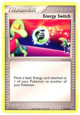 1x - Energy Switch - 75/108 - Uncommon PL/MP, English Pokemon EX Power Keepers