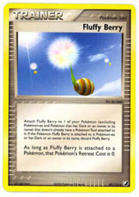 1x - Fluffy Berry - 85/115 - Uncommon NM, English Pokemon EX Unseen Forces