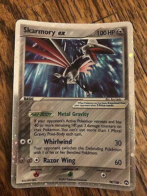 Skarmory EX Ultra Rare Pokemon Card 98/108 Power Keepers - Trading Cards